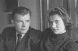 S manželkou Miroslavou (kolem 1940)