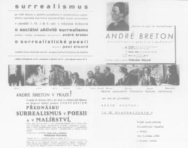 Plakát (přednášky André Bretona a Paula Eluarda, 1935)